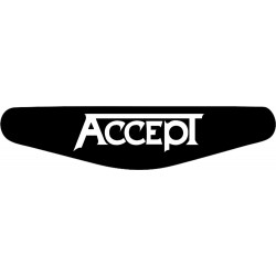 Accept - Play Station PS4 Lightbar Sticker Aufkleber