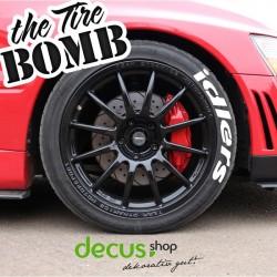 ADVAN - Tire Bomb tyre stencils Reifen Aufkleber Sticker Farbe