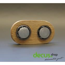 ECHTHOLZ Buche massiv - Spinner Brass Hand Toy Finger Bar EDC Pocket Fidget