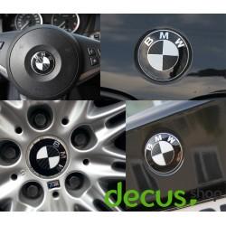 Emblem Ecken SET in Carbon passend für alle BMW Modelle