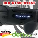 Play Station PS4 Lightbar Sticker Aufkleber Ihr Wunschtext
