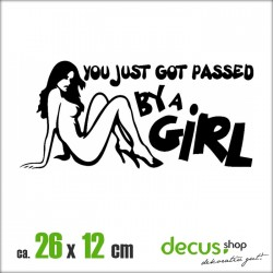 YOU JUST GOT PASSED BY A GIRL II XL 2575