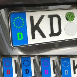 Kennzeichen Nummernschild Symbol Aufkleber EU Feld
