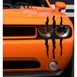 Monster Klaue Kralle Kratzer Scheinwerfer