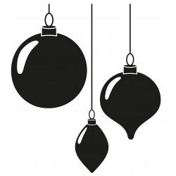 3 Weihnachtskugeln L 2654