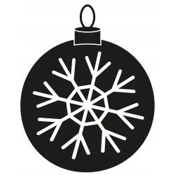 Weihnachtskugel Schneeflocke L 2658