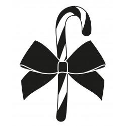 Weihnachten Zuckerstange Schleife L 2661