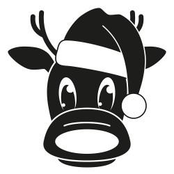 Rudolph Rentier Weihnachtsmann Mütze L 2673