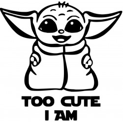 Baby Yoda - Too Cute i Am L 3243
