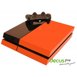 PlayStation Skin orange - Play Station PS4 Sticker Aufkleber