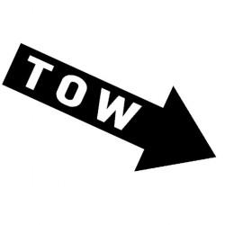 TOW Abschlepp Pfeil // Rally Sticker OEM JDM Style Aufkleber