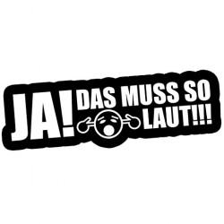 JA! Das muss so laut!!! // Sticker DUB OEM JDM Style Aufkleber