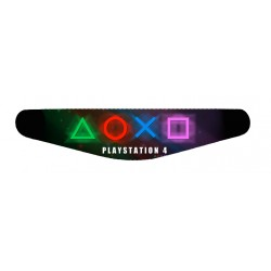 PlayStation Icons - Play Station PS4 Lightbar Sticker Aufkleber in Farbe