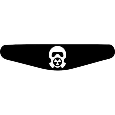 Gas Maske - Play Station PS4 Lightbar Sticker Aufkleber