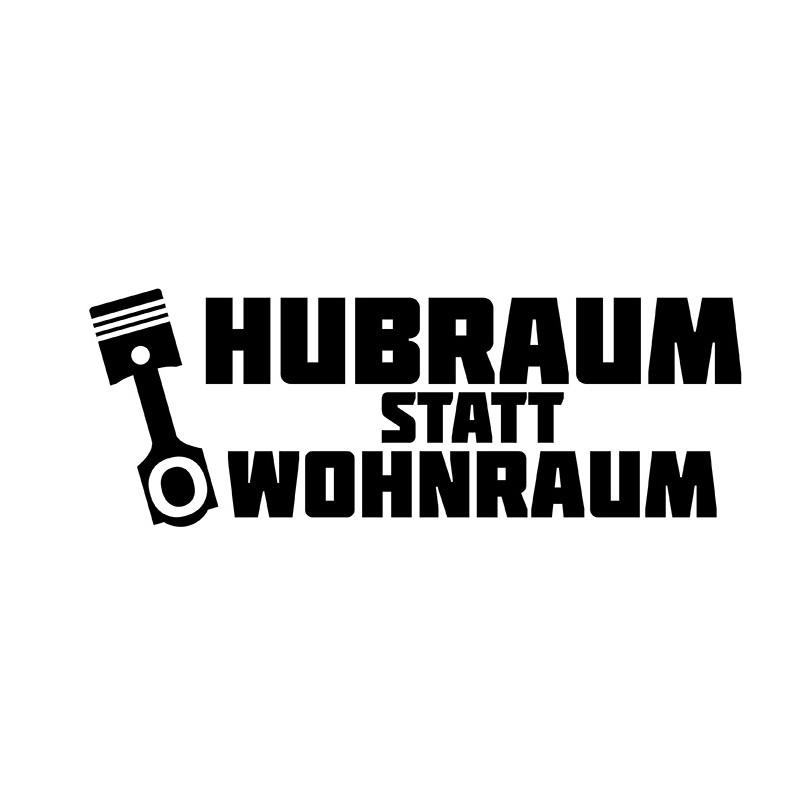 HUBRAUM Statt Wohnraum // Sticker OEM JDM Style Aufkleber