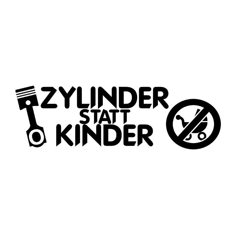ZYLINDER Statt Kinder // Sticker OEM JDM Style Aufkleber